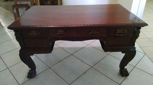 Beautifully Detailed Antique Partners Desk for Sale in Miami, FL