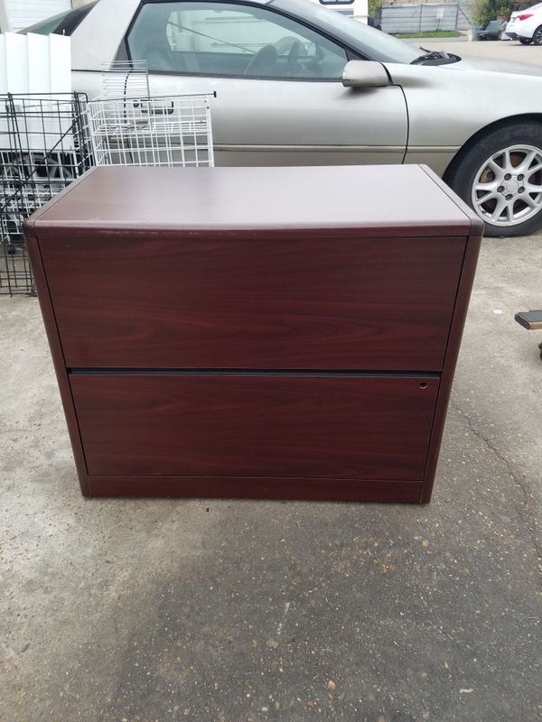 Two drawer lateral file cabinet $60 (good condition)