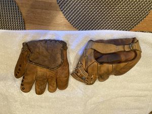 Vintage youngster softball gloves from the 20s or 30s. for Sale in Federal Way, WA
