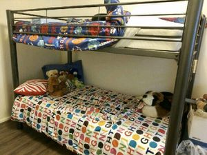 Twin bunk bed w/mattresses for Sale in Newport News, VA