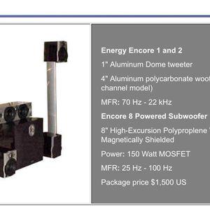 Energy Encore Home Theater 6 Speaker Surround Sound System for Sale in Pleasanton, CA