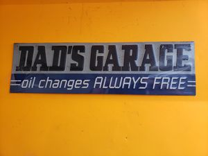 New metal sign DADS GARAGE man cave decor for Sale in Stow, OH
