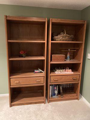 2 Solid Oak Bookshelves for Sale in Englewood, CO