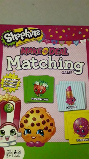 Shopkins make-a-deal matching game for Sale in Henderson, NV