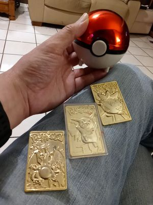 Pokemon Gold card set.with Pokeball for Sale in Tampa, FL