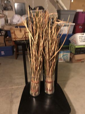 Glass jars with grass decor for Sale in Thornton, CO
