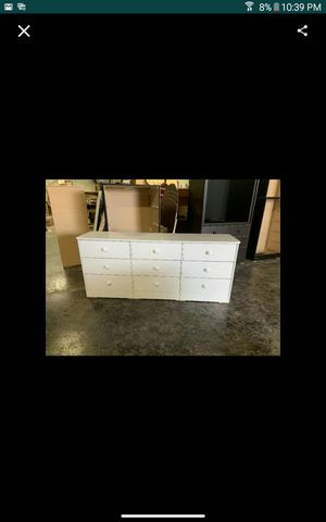 White 9 drawer dresser for Sale in Los Angeles, CA