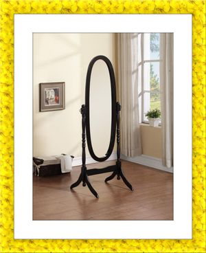 Black swivel oval mirror for Sale in Arlington, VA