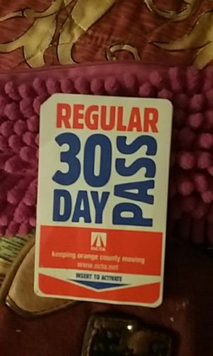 OCTA Regular 30 Day Bus Pass for Sale in Santa Ana, CA