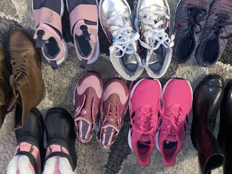 Girl Size 5/6 Shoe Lot ALL Like New Condition!! Adidas Are Brand New Never Worn Huaraches Are Missing One Lace And Snow Boots Are Brand New for Sale in Vancouver,  WA