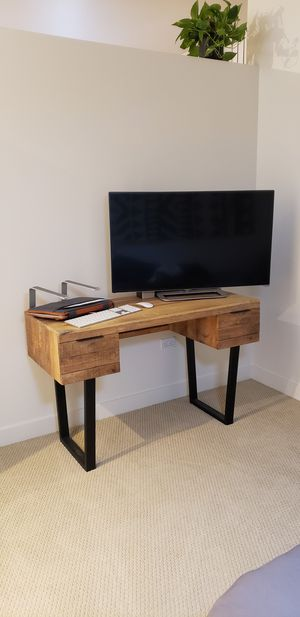 Modern wood and iron desk with drawers for Sale in Phoenix, AZ