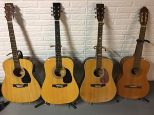 Guitars four of them different makers for Sale in Grafton, OH