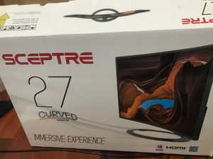 Sceptre '27' Curved Monitor. for Sale in The Bronx, NY