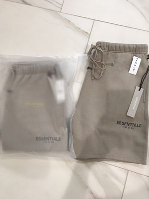 Fear of God Essentials Fleece Shorts Tan Size Small and Medium for Sale in Garden Grove, CA