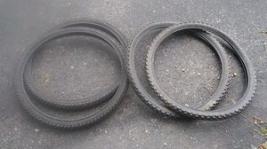 """2 mountain bike tires like new tire size, 26"""" × 1.95 for Sale in Cleveland, OH"""