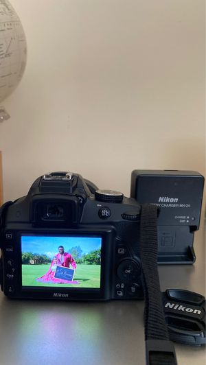 Nikon D3300 DSLR Camera, Lens, Charger and WiFi Chip for Sale in Margate, FL