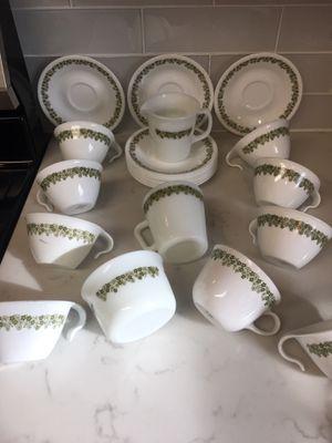 Crazy daisy Pyrex and corelle tea set for Sale in San Antonio, TX
