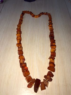 """Vintage Copal Raw Amber Bead 28"""" Graduated Necklace In Vg Condition From Estate for Sale in Berlin, NJ"""