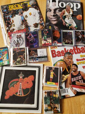 Seattle Supersonics NBA basketball memorabilia for Sale in Gresham, OR