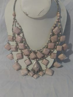 Pink Stone Women's Statement Necklace for Sale in Columbus,  OH