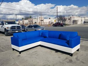 NEW 7X9FT SEA MICROFIBER COMBO SECTIONAL COUCHES for Sale in Fresno, CA
