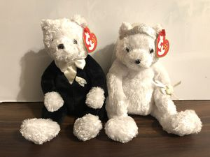 NWT TY BEANIE BABY BRIDE AND GROOM WEDDING BEARS 2002 for Sale in Murrieta, CA