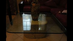 Beautiful Stone Glass Top Coffee Table for Sale in West Palm Beach, FL
