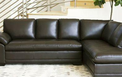 Wide Genuine Leather black Sofa for Sale in Perkasie,  PA