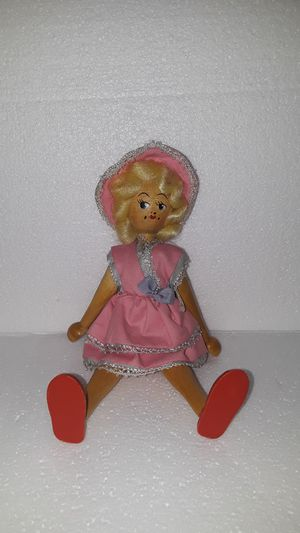 Antique small wooden doll made in Poland for Sale in Fresno, CA