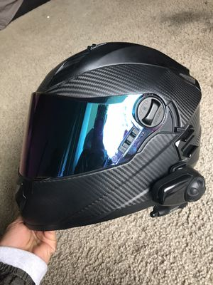 Sedici Matte Carbon Fiber Motorcycle Helmet Small for Sale in Anaheim, CA