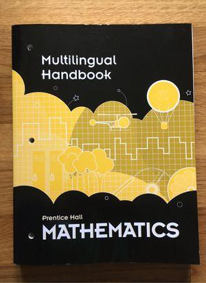 Prentice Hall Mathematics Multilingual Handbook isbn 9780133721935 7 languages for Sale in Newport News, VA