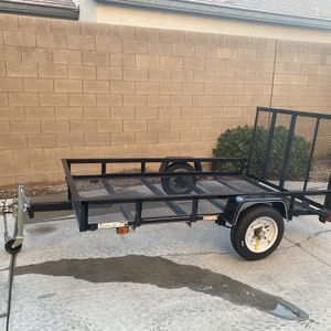 2020 Lowe's utility trailer 5x8 with ramp for Sale in Las Vegas, NV