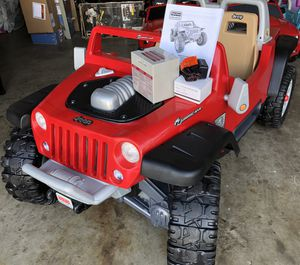 Red Jeep Hurricane 12volt electric kids ride on cars power wheels for Sale in Lake Forest, CA