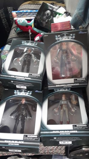 Walgreens exclusive Westworld figures from diamond select toys for Sale in Portland, OR