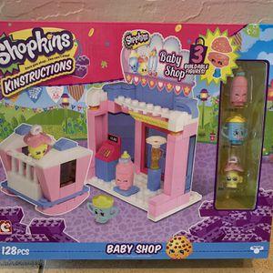 Shopkins Kinsrtuctions Baby Shop Set NEW for Sale in Phoenix, AZ