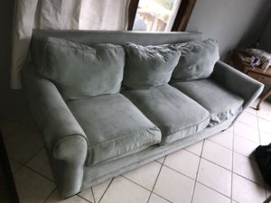 Blue couch for Sale in Lake City, MI