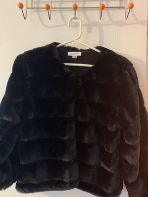 Calvin Klein Black Faux Mink Shawl Women's Size Small for Sale in Manassas, VA