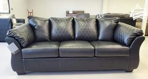 Black Leather Sofa for Sale in Houston, TX