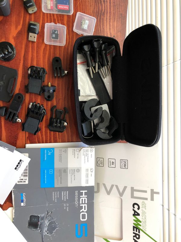 GoPro hero 6 and session 5 camera kit