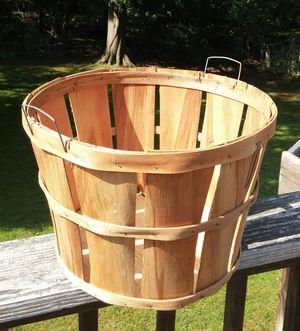 Slat Wood Bushel Basket W/Wire Handles for Sale in Germantown, MD