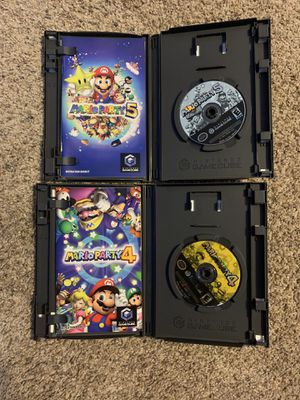 Mario party 4 & 5 GameCube Complete in Box! Guaranteed to work condition is solid!!! for Sale in Greer, SC