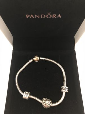 7.5 pandora with gold clasp for Sale in Palm Springs, FL