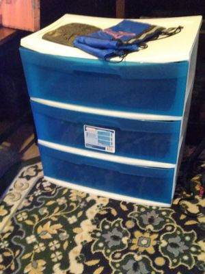 3 plastic stack drawers for Sale in Houston, TX
