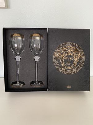 New! Versace wine glass set of 2 for Sale in Las Vegas, NV