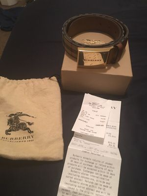 Burberry Belt WITH RECEIPT for Sale in Nashville, TN