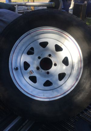 15in trailer rim...tire is damaged you will need to replace tire.. for Sale in Tampa, FL