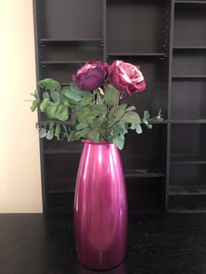 Beautiful Purple Vase with Flowers for Sale in Mableton, GA