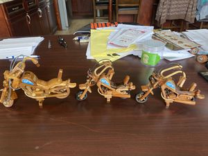 Harley Davidson wooden motorcycles- best offer please for Sale in Rowland Heights, CA