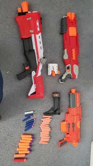 Nerf guns and Nerf bullets for Sale in Hesperia, CA