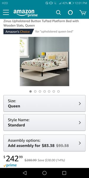 Queen size bed frame for Sale in Saginaw, MI